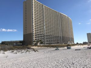 Direct Beachfront Emerald Beach Resort , Sleeps 8. Ceiling to floor Gulf Front View in Master !